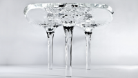 Zaha Hadid's Liquid Glacial table brings you closer to the nature in artisitc form