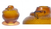 Rare Rene Lalique colorful vases for sale