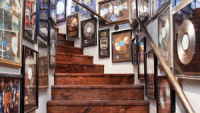The stairway to Ozzy's home studio