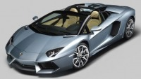 Lamborghini's flagship Aventador LP 700-4 boasts removable roof panels made from carbon fiber