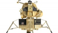 Cartier's Solid Gold Lunar Landers is a replica of the 1969 Lunar Excursion Module