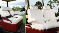 Luxury golf car seats will support your back in style for long hours' play