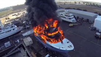 $24 million yacht goes up in flames