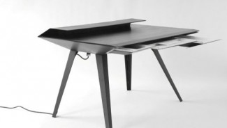 David HSU's Hi-Tech Carbon Desk 117 is inspired by a stealth bomber