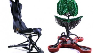 The $11,000 Stig Chair by Veraseri Designs is a recycled luxury furniture for the wealthy eco lovers