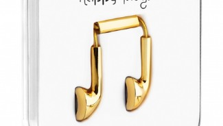 Happy Plugs Headphones: Solid 18 Carat Gold