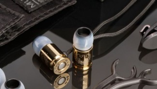 Munitio's Nines Tactical Earphones comes with gold titanium-coated finish at CES 2013