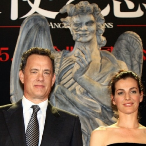 Tom Hanks and Ayelet Zurer