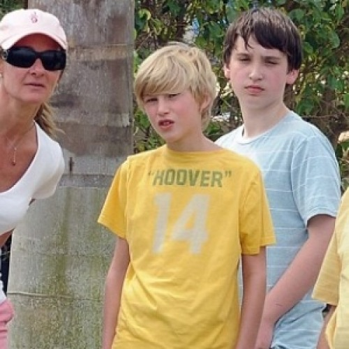Rory Gates is in the Yellow T-shirt