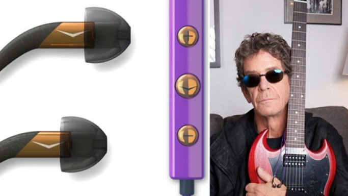 Klipsch limited edition X10i in-ear headphones signed by Lou Reed