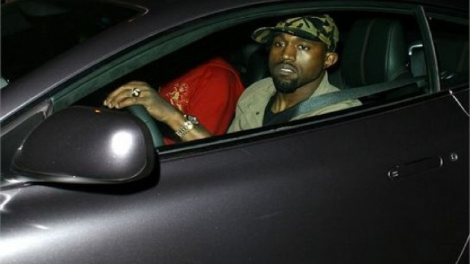 Kanye West in his car
