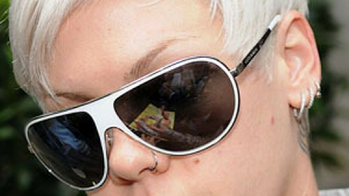 Pink has been spotted many times wearing Dolce & Gabbana DG 2024 sunglasses