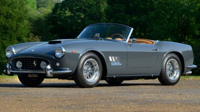 Charlie's Angels 1963 Ferrari 250 GT SWB California Spyder set to break records at auction