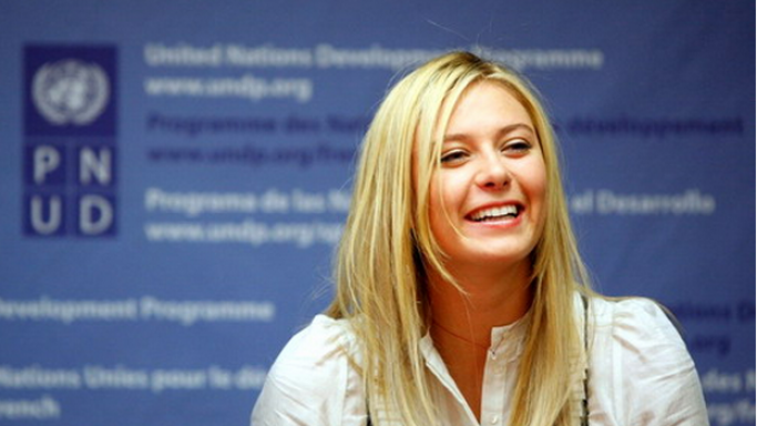 Sharapova is the goodwill ambassador for the United Nations Development Programme.