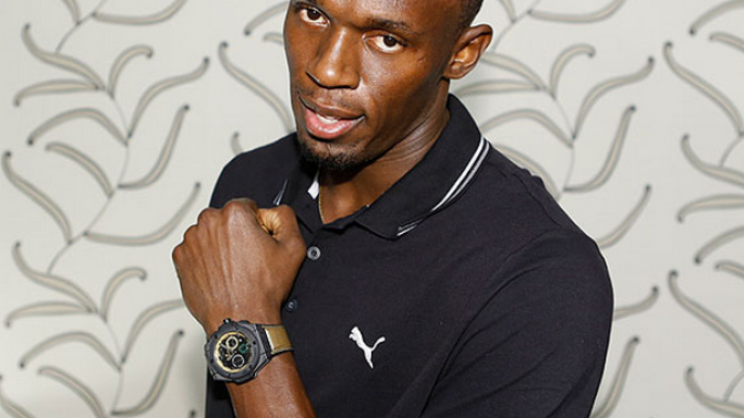"The world's fastest man Usain ""Lightning"" Bolt has a Swiss made watch"