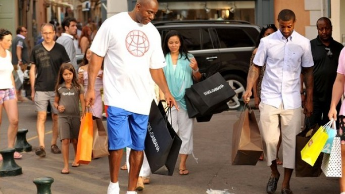 Magic Johnson on vacations in St Tropez.