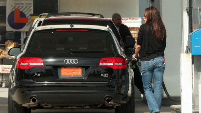 Bullock loves driving around in her black Audi A6.