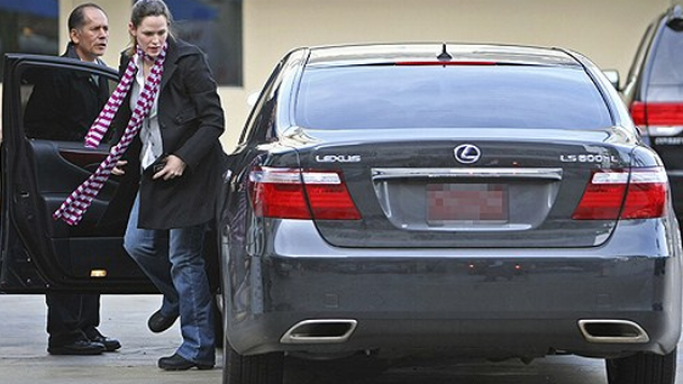 Garner was photographed arriving at the venue of her daughter's birthday party in Los Angeles in her black colored Lexus LS600hL.