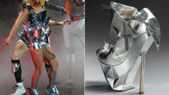 Lady Gaga's Emporio Armani shoe from one of her concerts goes on auction