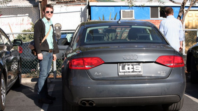 Elijah Wood drives Audi A4