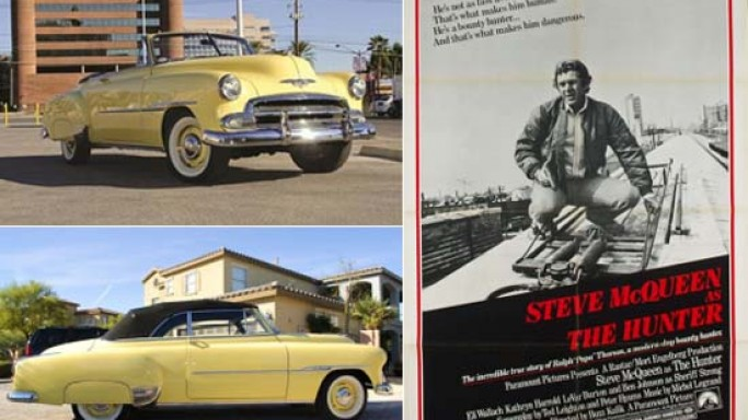 "Steve McQueen's Movie Car  from his last movie ""The Hunter"" up for auction"