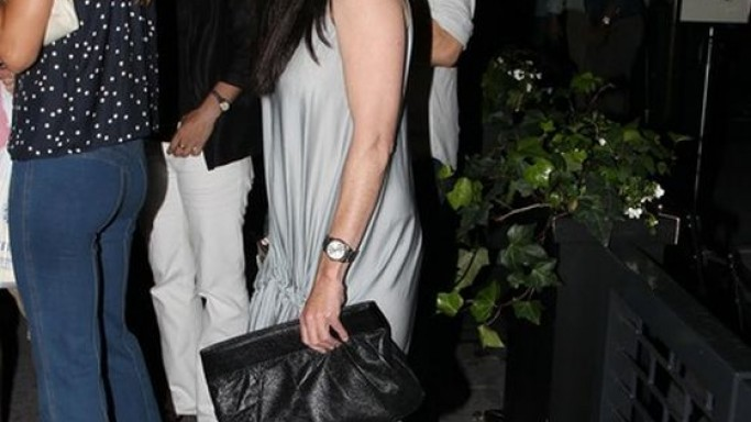 Shannen wears Derek Lam Double-Platform Lace-Up Sandals