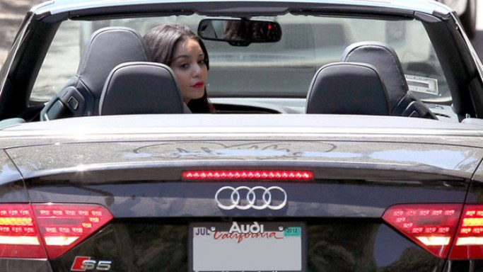 Vanessa Hudgens drives Audi S5