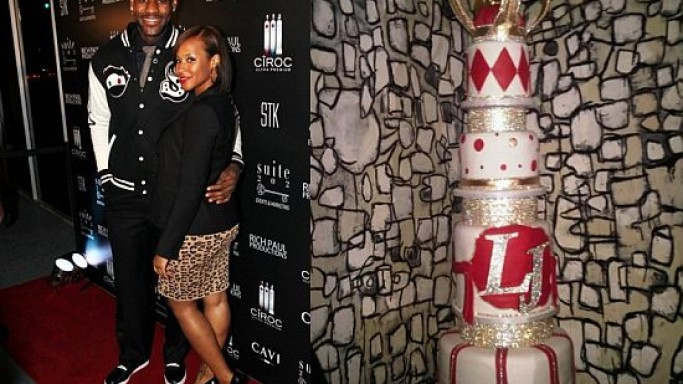 LeBron James' star-studded birthday bash and the oversized cake