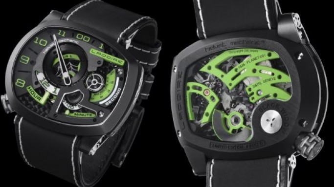 "Limited edition Ladoire Black Widow ""Mr. Green"" watch"