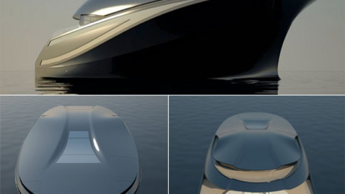 Charlie Baker E-Yacht concept for high-end cruising executives