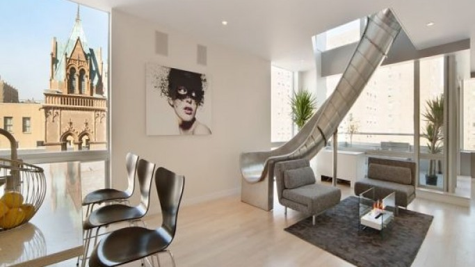 Luxury New York penthouse apartment connected with slides goes for sale at $4 million