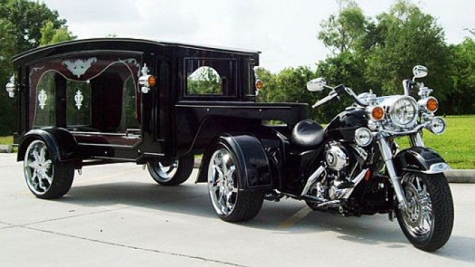 Harley-Davidson Hearse for saying a 'macho' final goodbye