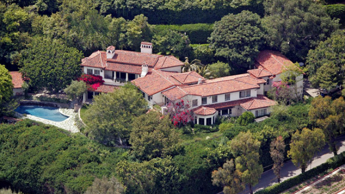 Meg Ryan house in Bel-Air, Los Angeles, CA