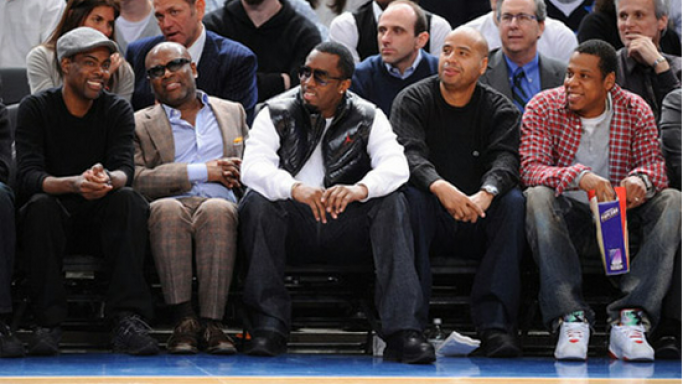 Jay Z ( most right) prefers Air Jordan sneakers from Nike many times