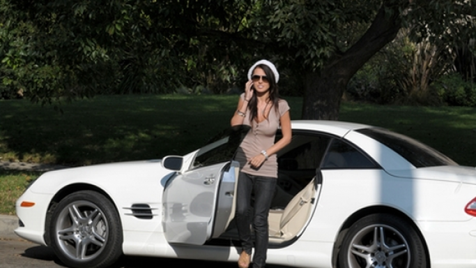 Audrina Patridge loves white it is evident in her wide collection of white vehicles including Mercedes-Benz SL550