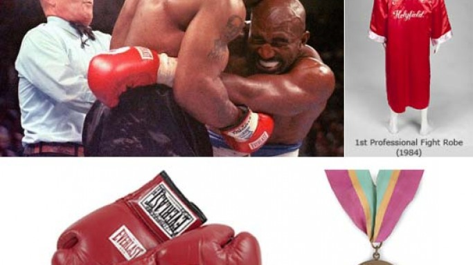 Evander Holyfield memorabilia goes on auction for boxing fans