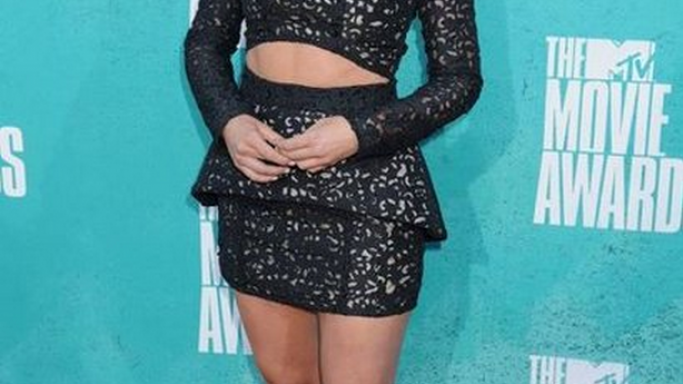 Juliane Hough was spotted wearing these designer shoes to the 2012 MTV Movie Awards.
