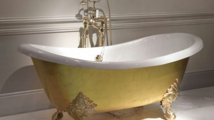 Devon & Devon's 24 carat gold leaf Bathtub