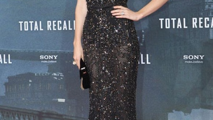 """The artist donned these shoes to the """"Total Recall"""" movie premiere held in Berlin."""