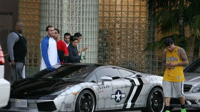Chris Brown's Lamborghini Gallardo Spyder