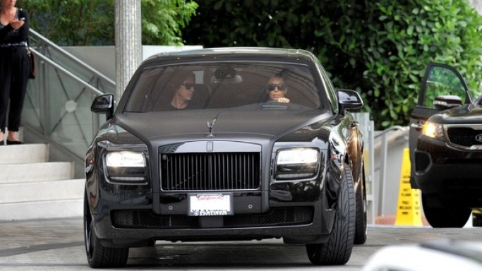 Kim Kardashian drives Rolls Royce Ghost