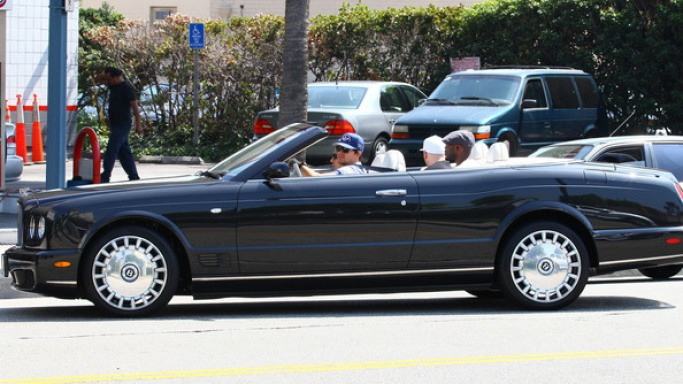 Mark Wahlberg drives Bentley Azure