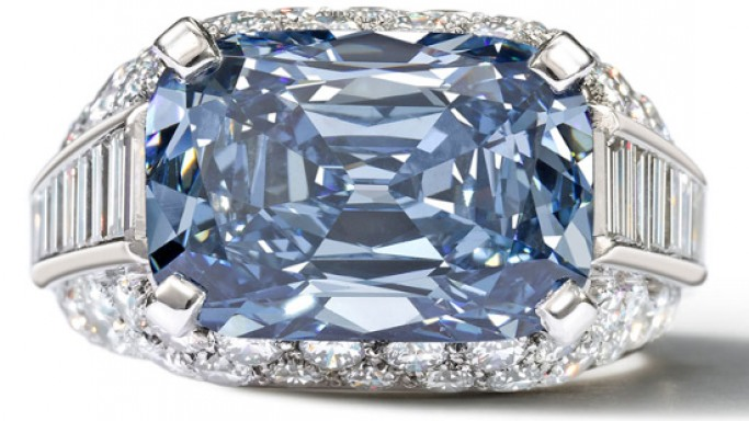 World's most expensive Blue Diamond set in a Bulgari ring sold for a record £6.2 million