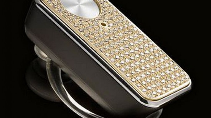 Motorola's diamond encrusted MOTOPURE H12 Bluetooth headset
