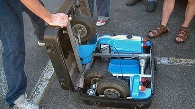 Go-Kart Folds Into a Suitcase