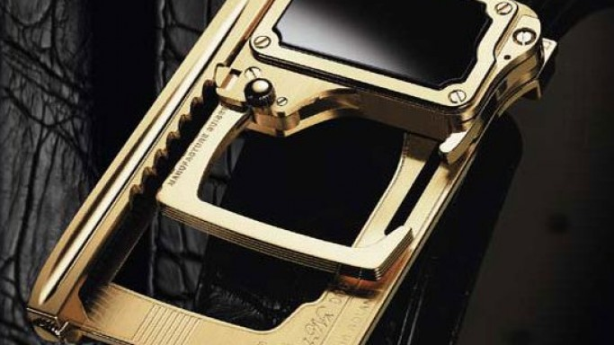 Roland Iten's solid gold, hi-precision mechanical belt buckles