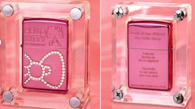Limited Edition Hello Kitty Swarovski studded Zippo