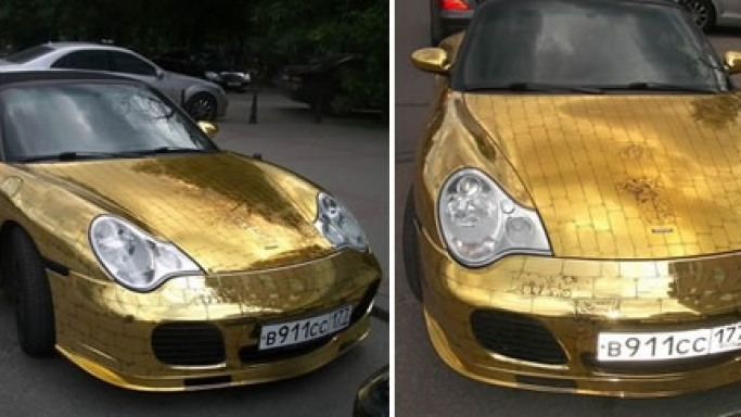 The Golden Porsche – From Russia with love…and gold!
