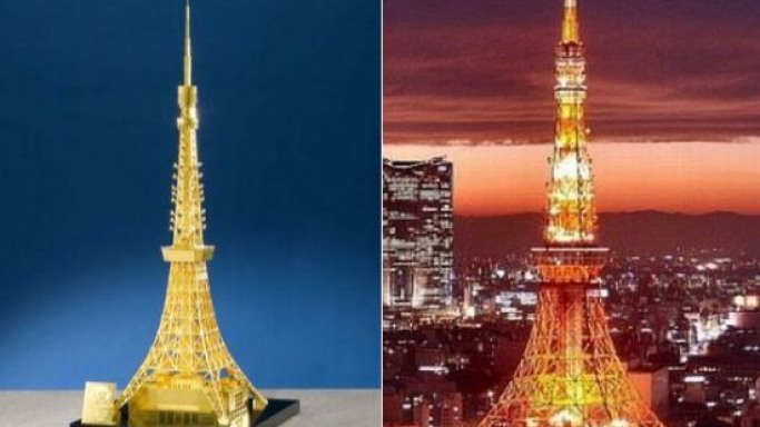Tokyo Tower replica in pure gold by Ginza Tanaka