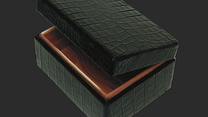 Alligator Humidor stores your prized cigars with style